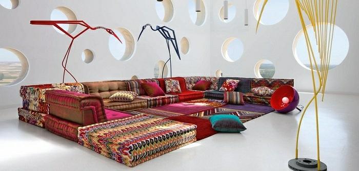 sofas ideas diseños tendencias puertas amarillo
