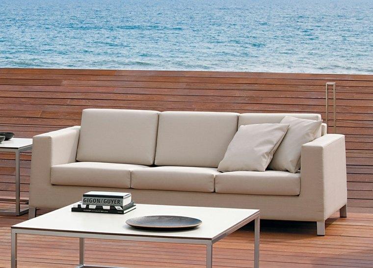 sofa exterior tapizado beige