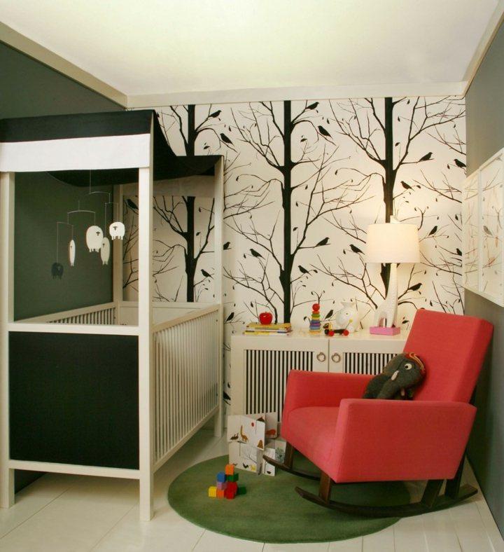 tendencias decoracion paredes habitaciones pequeños asientos
