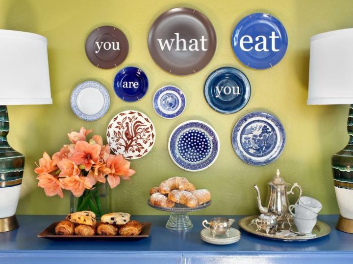 tendencias decoracion paredes niña mensajes platos