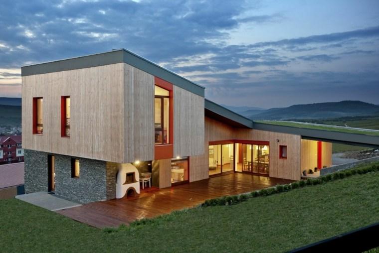 terraza azotea verde césped techo