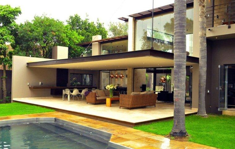 terraza moderna porche original diseño