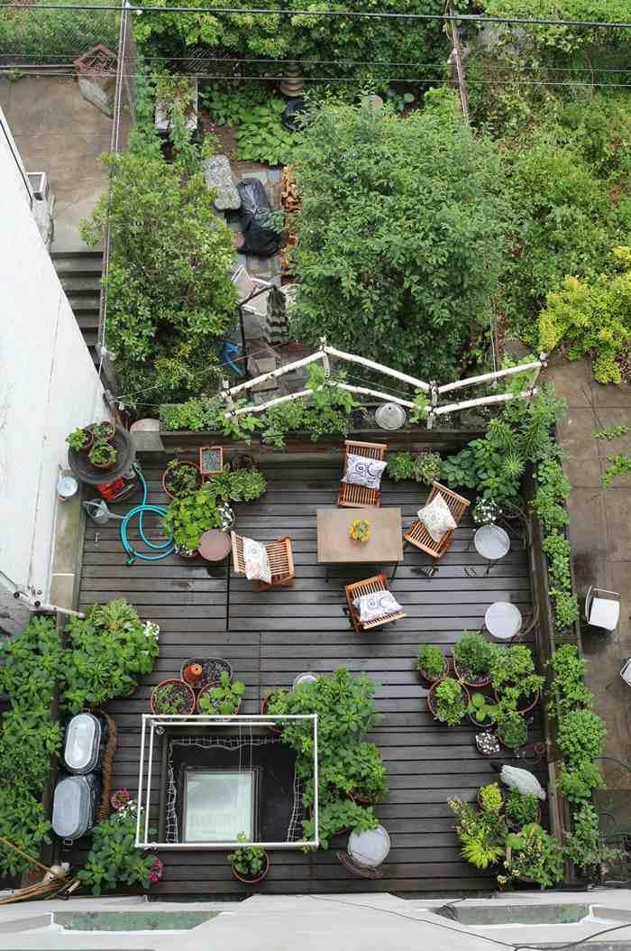 terrazas con jardin ideas estilo pendientes colores
