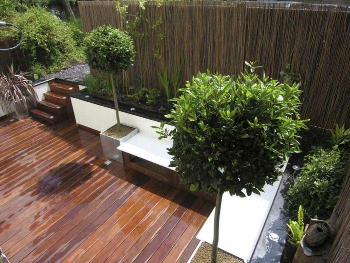 terrazas con jardin ideas estilos muebles maderas listones