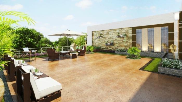 terrazas con jardin ideas estilos muebles colores