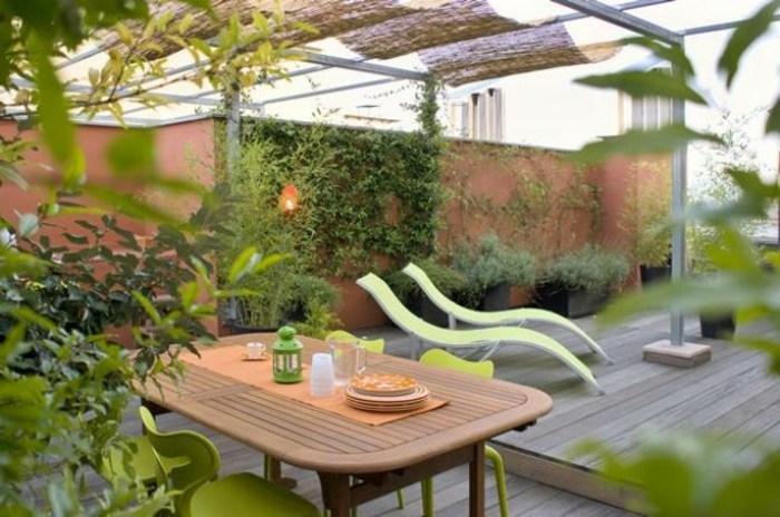 terrazas con jardin ideas estilos paredes tubos