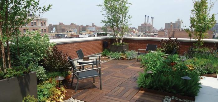 terrazas con jardin ideas estilos rocas solares maderas