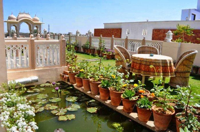 terrazas con jardin ideas variados agua lagunas