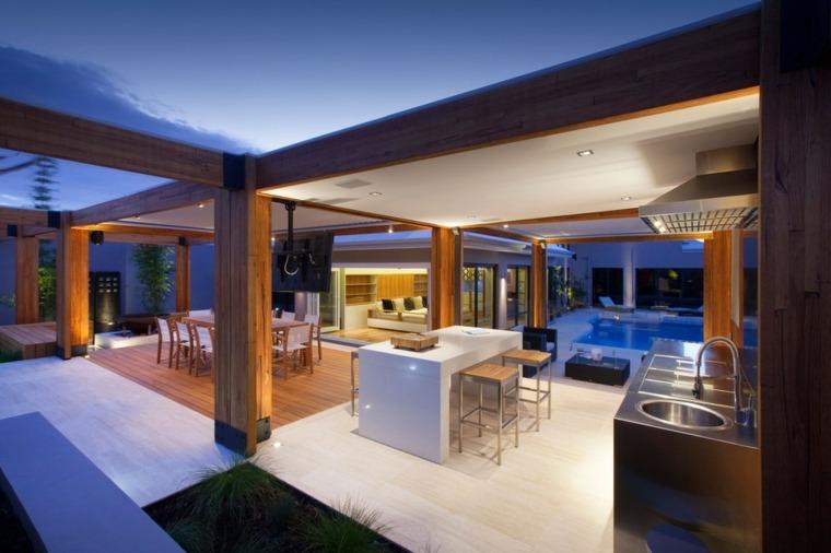 terrazas cubiertas porche estilo moderno