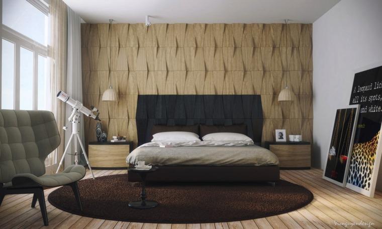 textura madera opciones decorar dormitorio alfombra marron ideas