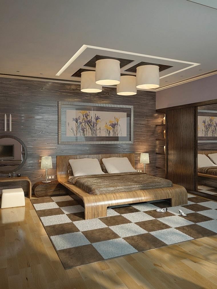 textura madera opciones decorar dormitorio alfombra original ideas