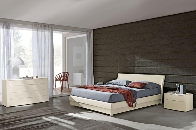 textura madera opciones decorar dormitorio cama blanca