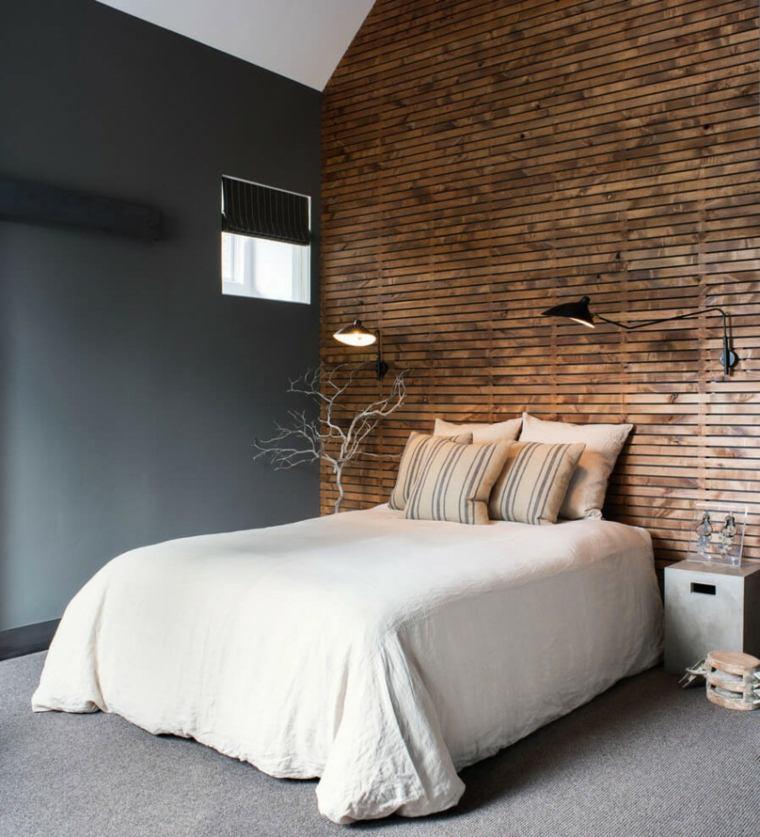 madera opciones decorar dormitorio lamparas negras ideas