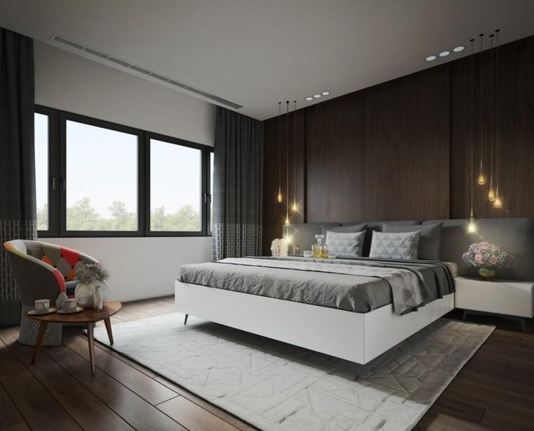 textura madera oscura opciones decorar dormitorio ideas