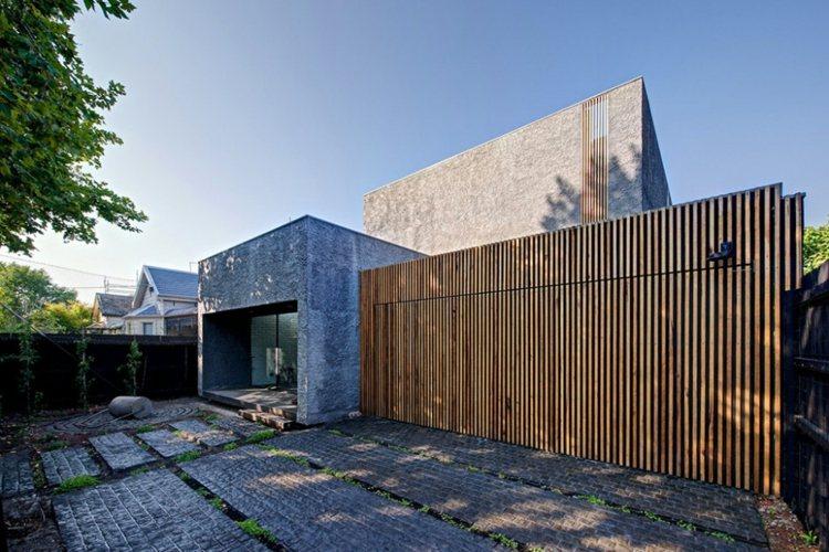 Minimalismo en el jard n 100 dise os paisaj sticos - Vallas para casas ...