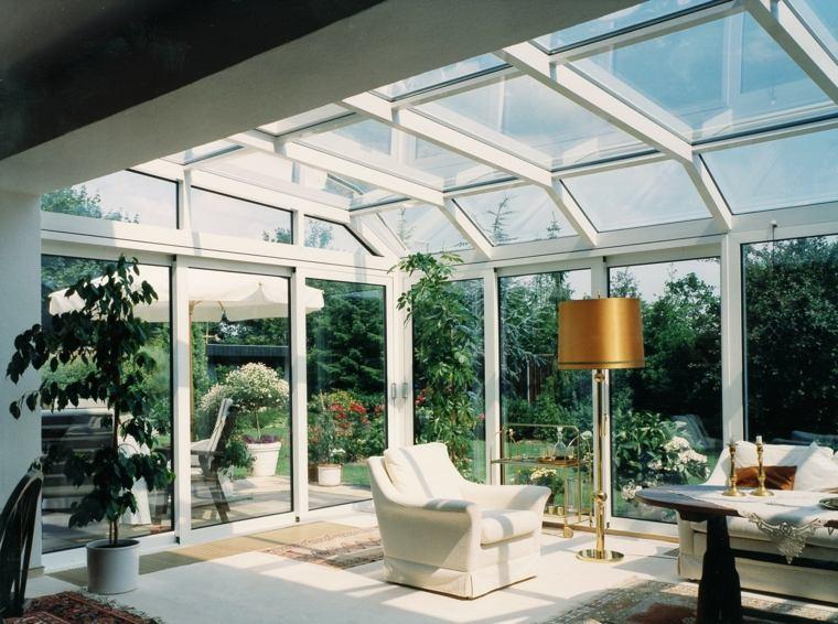 ventanas salon muebles blancos luminoso ideas