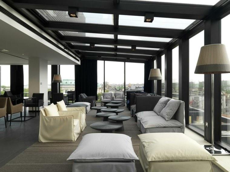 ventanas techo salon moderno luminoso amplio ideas