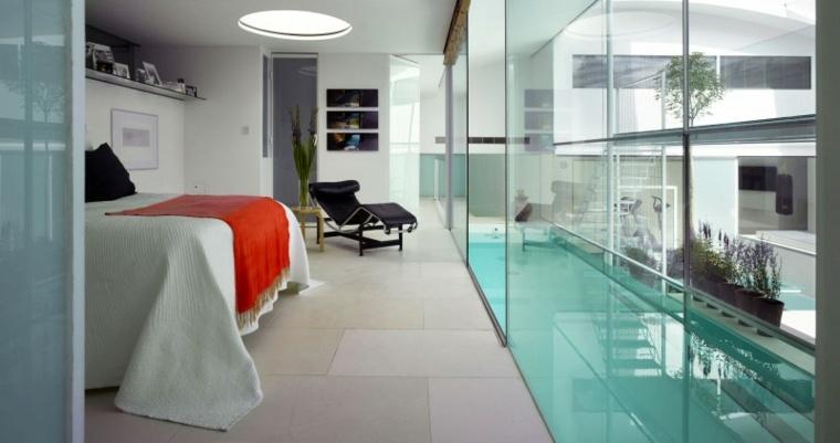 vidrio camino lleva dormitorio ideas