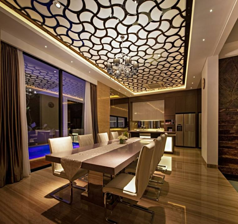 Vidrio: 35 opciones originales de suelos y techos -