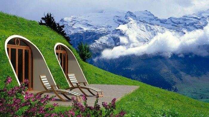 vistas cielos planes nuves soleadoras montañas
