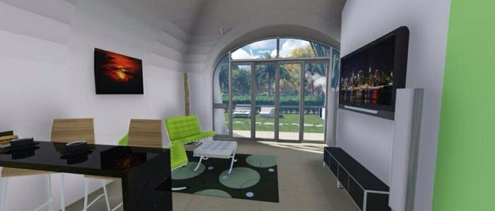 vistas interiores casas pqueñas television
