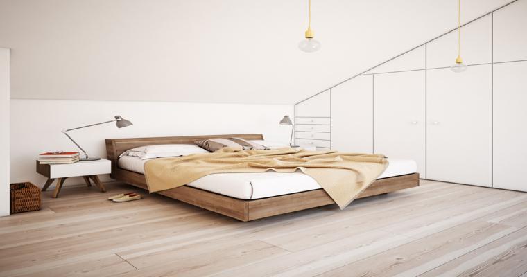 muebles minimalistas acentos madera