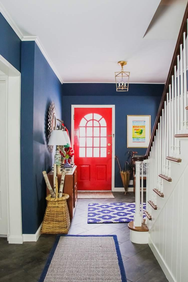 Benjamin-Moore-Washington-Blue-diseno-entrada-casa