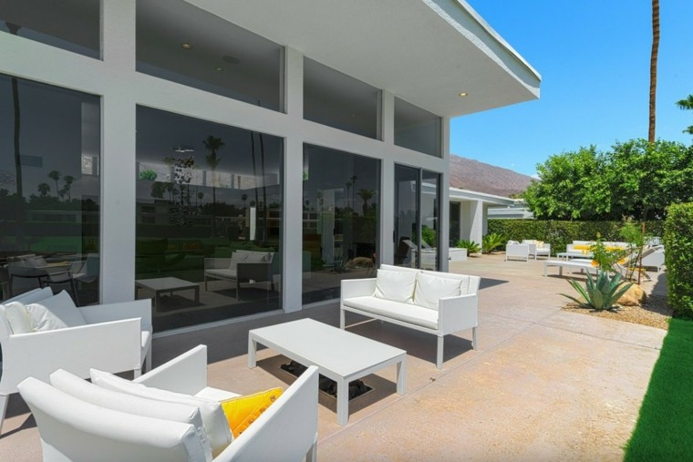 h3k design casa diseno terraza muebles blancos ideas