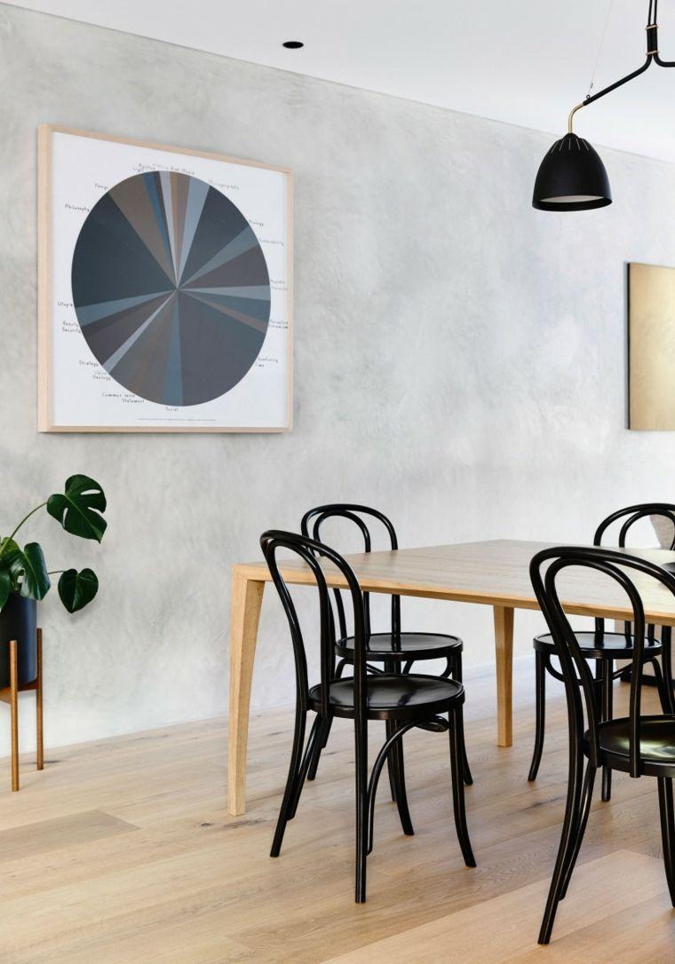 InForm Victoria Australia comedor sillas negras ideas