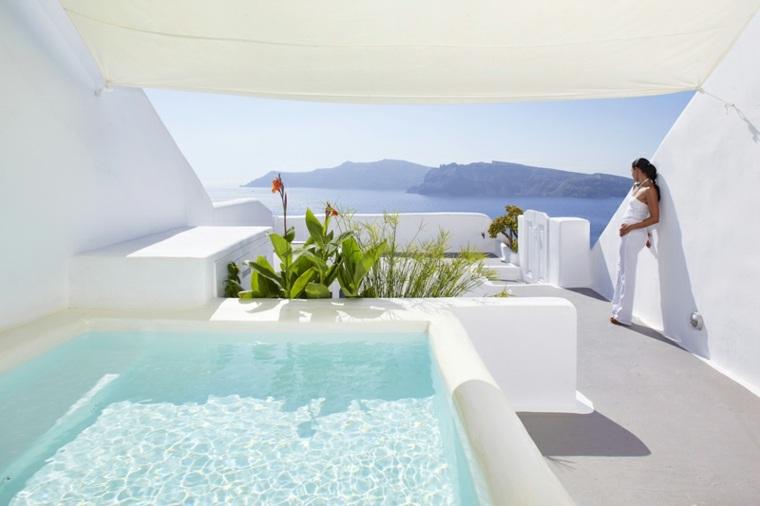 Kirini Santorini grecia piscina plantas ideas