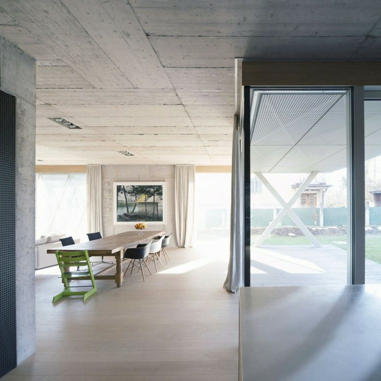 OFIS architects diseno casa paredes hormigon ideas
