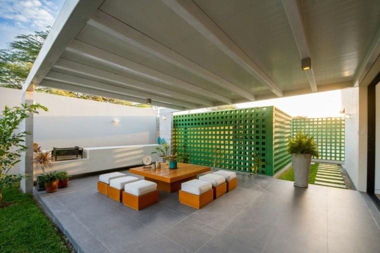 riofrio rodrigo arquitectos taburetes casa diseno terrazas ideas