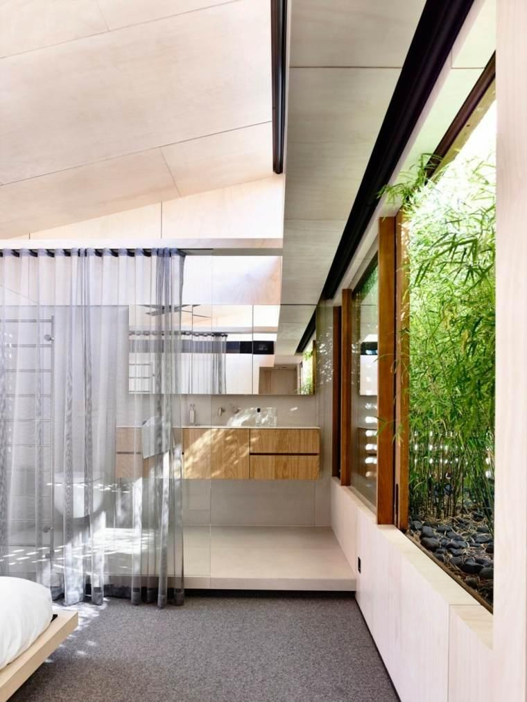 Schulberg Demkiw Architects disenaron bano abierto ideas
