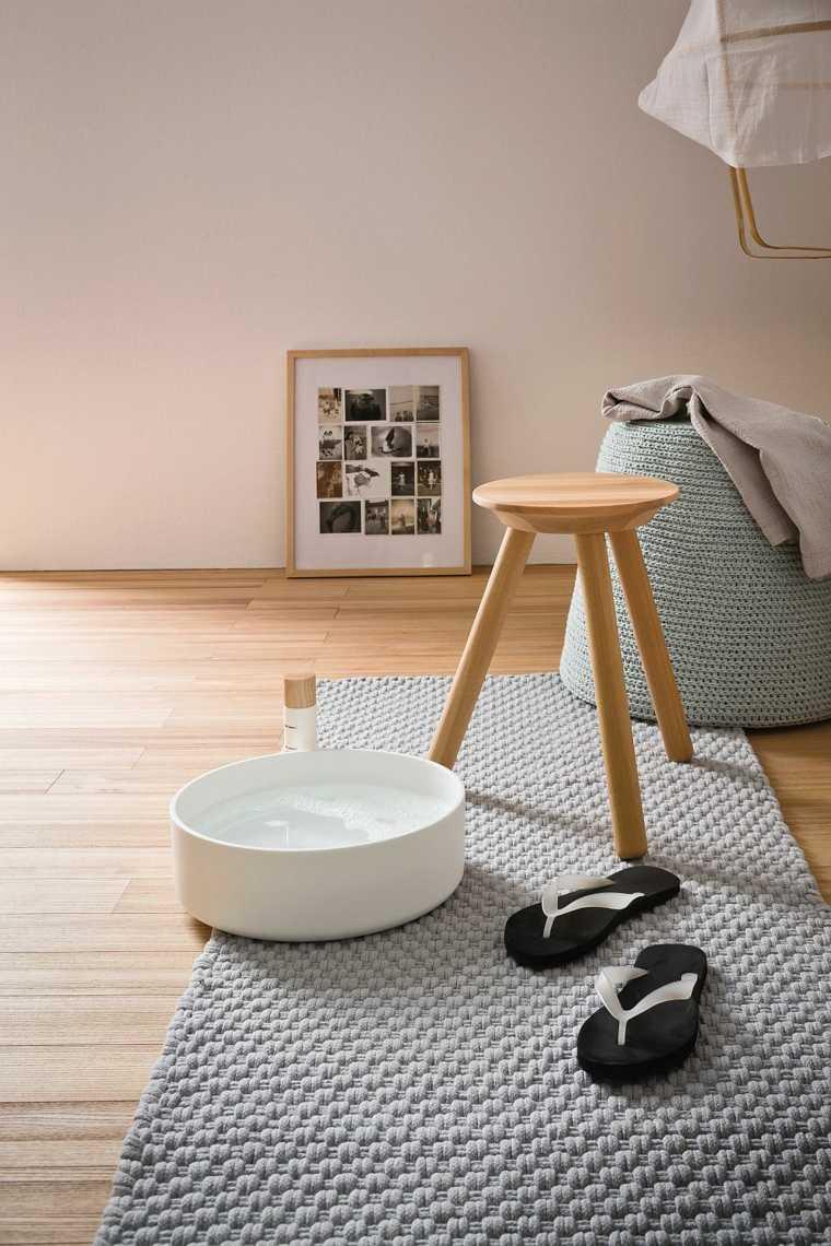 taburete ducha madera diseno ideas
