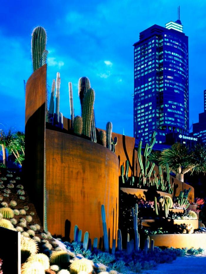 acero corten muebles cactus elegantes
