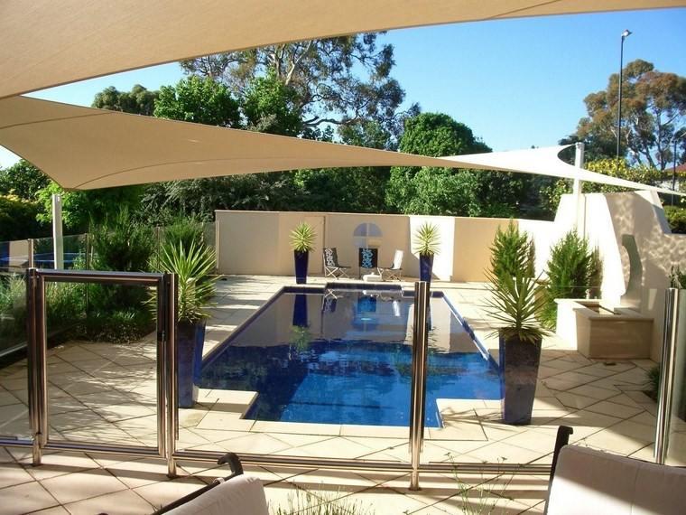 aire libre opciones jardin piscina toldo ideas