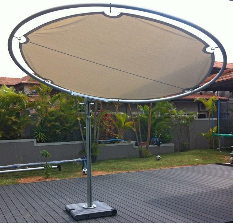aire libre opciones sombrilla forma redonda ideas