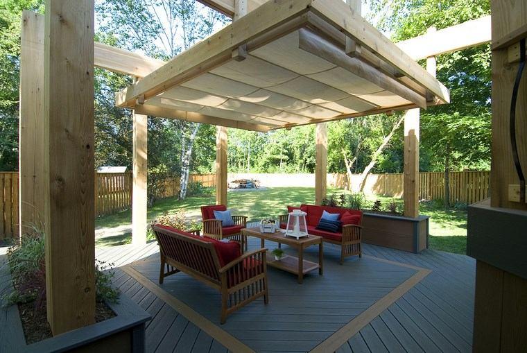 aire libre opciones toldo madera ideas