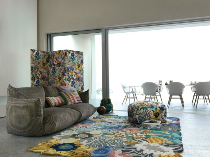 alfombras colores flores muebles flores