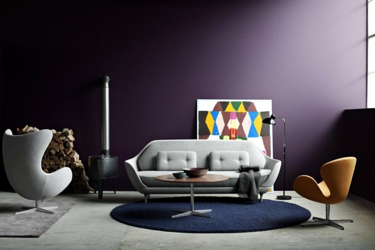 muebles alfombras redondas estilo salon