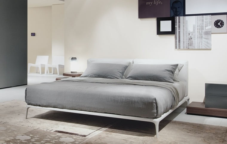 Camas de matrimonio para dormitorios modernos m s de 50 modelos - Letto park poliform ...