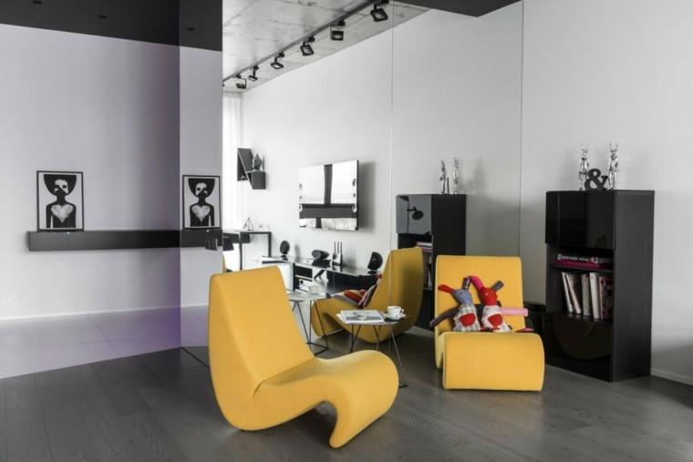 aparatamento Moscu sillones amarillos ideas