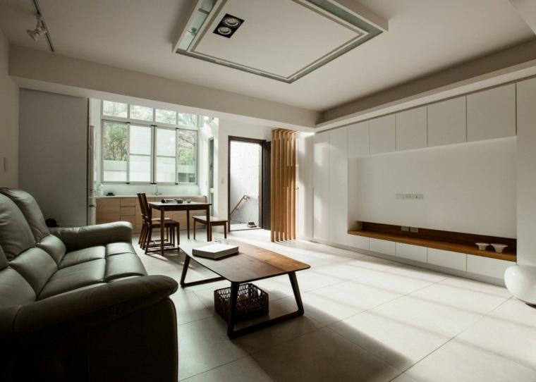 aparatamento pequeno muebles madera diseno ideas