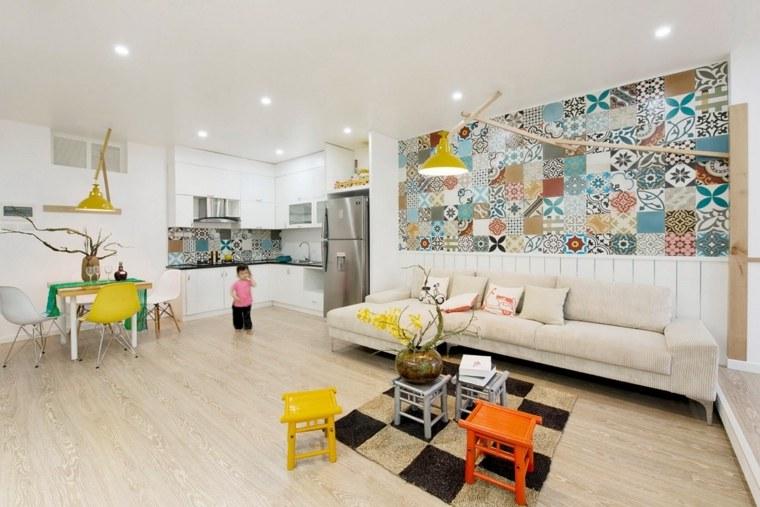 apartamento colorido opciones pared inspiracion ideas