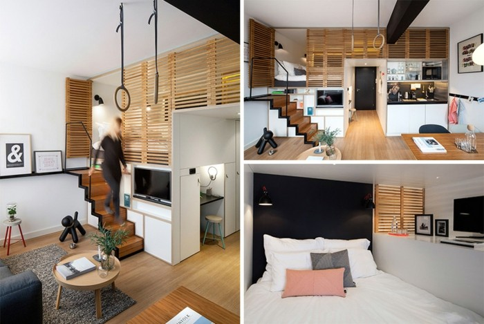 Gentil Apartamento Tipo Loft Diseño Madera