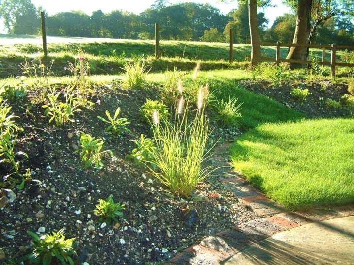 aplicacion grava muestras estantes hierbas