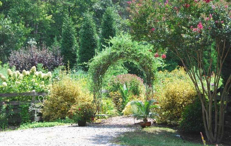 arco flores vid jardín