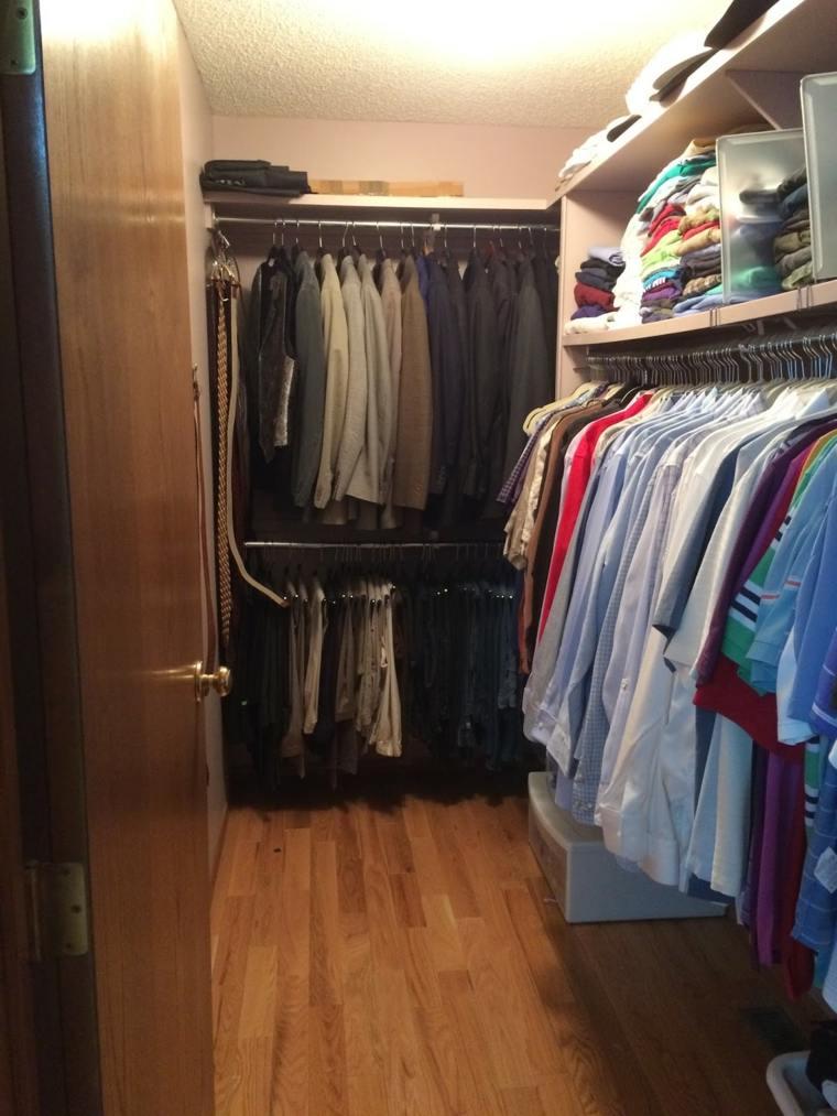 armario organizado ropa de hombre