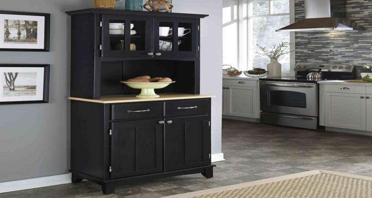armario aparador pequeño color negro