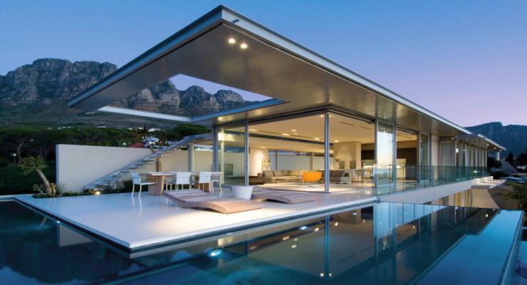 diseño moderno terraza jardín